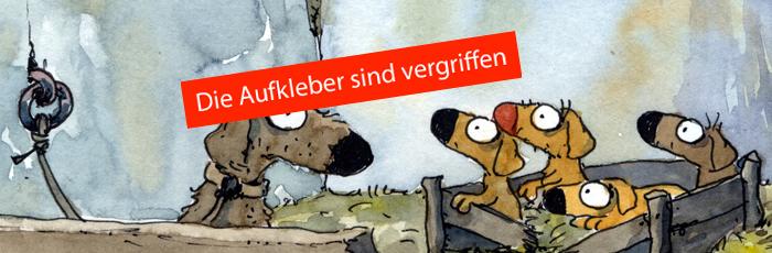 Aufkleber: Jahr des Straßenhundes 2015